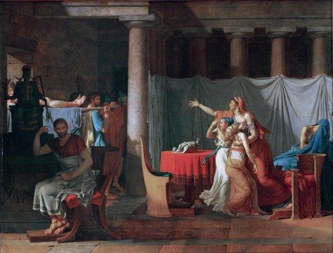 Jacques-Louis David, Bruto e i littori, 1789