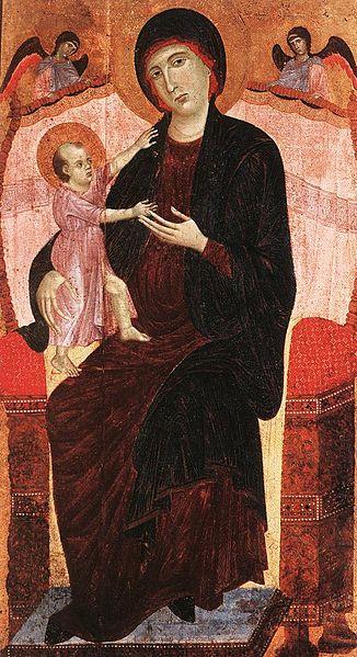 Duccio di Buoninsegna, Madonna Gualino, prima del 1285