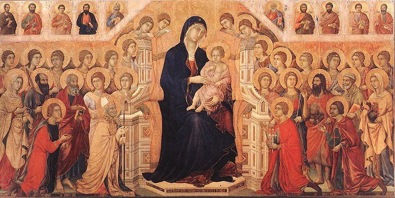 Duccio di Buoninsegna, Madonna in Maestà (fronte), 1308-1311