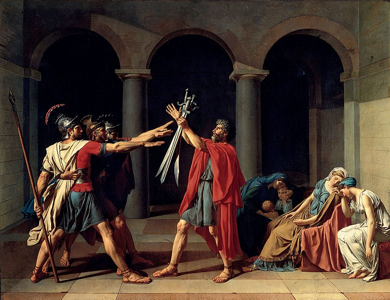 Jacques-Louis David, Il giuramento degli Orazi, 1784-1785