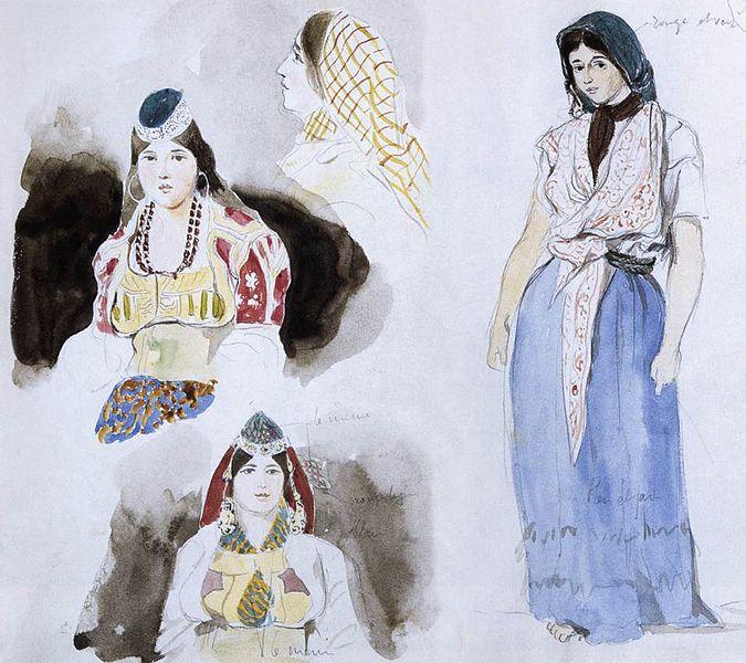 Eugène Delacroix, Donne del Marocco, 1832