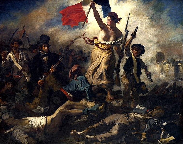 Eugène Delacroix, La Libertà guida il popolo, 1830