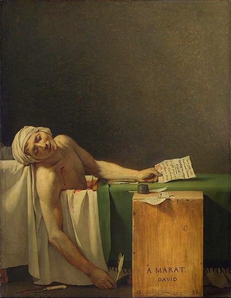 Jacques-Louis David, La morte di Marat, 1793