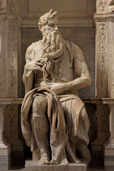 Michelangelo, Mosè, 1513-1515 c.ca e ripreso nel 1542 Marmo, h.235 cm Basilica di San Pietro in Vincoli, Roma