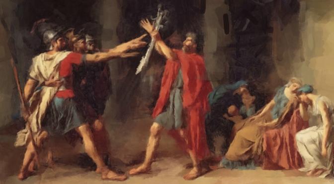 Come agiscono l'arte greca e l'arte romana nella impostazione dell'opera neoclassica?