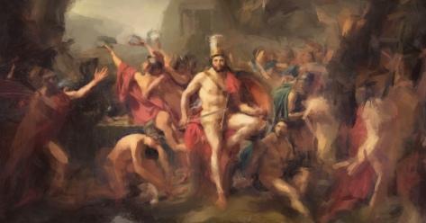 Jacque-Louis David, Leonida alle termopili, 1812