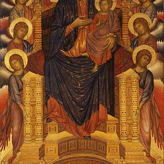 Cimabue, Maestà di Santa Trinita, 1290-1300