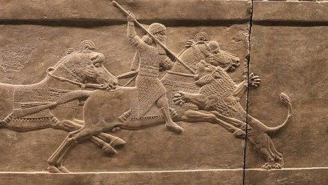 Caccia al leone del palazzo Nord di Assurbanipal, 646 a.C.